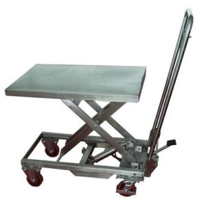 table elevatrice manuelle stockman inox 200 kg
